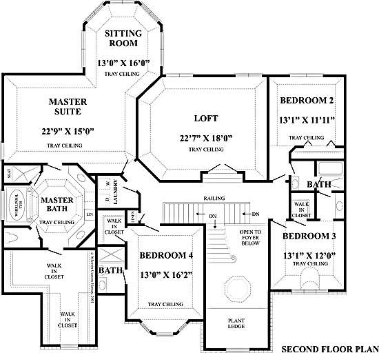 Monticello floor plan 2nd floor for Monticello floor plan