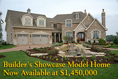 The Versailles model home from Silvestri Custom Homes is now available at $1,450,000 in the Prarie Lakes development in St. Charles