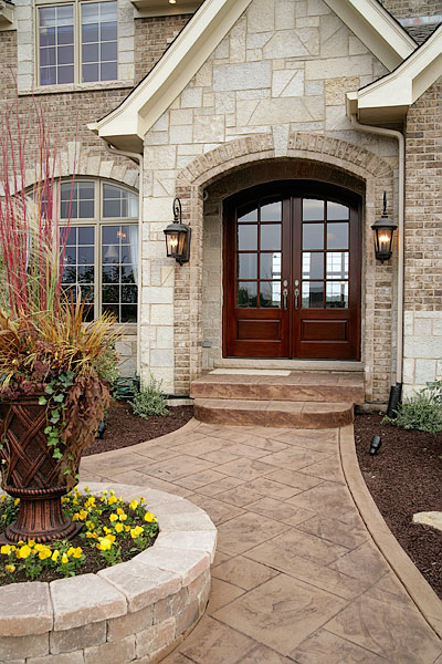 Silvestri custom homes versailles model home for New model front door